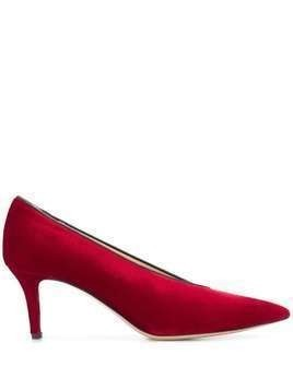 Fabio Rusconi Orale velvet pumps - Red