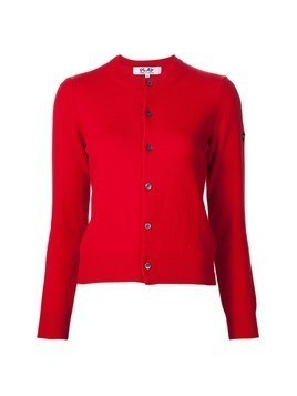 Comme Des Garçons Play round neck cardigan - Red