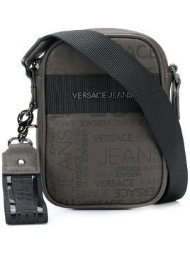 Versace Jeans logo zipped shoulder bag - Grey
