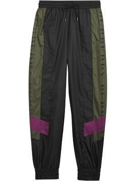 Burberry Logo Panel Shell Suit Pants - Black