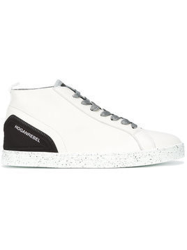 Hogan Rebel speckled sole lace-up sneakers - White