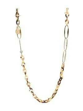 Chloé tortoiseshell effect chain necklace - Brown