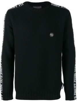 Philipp Plein logo appliqué jumper - Black