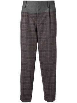 Kolor classic plaid trousers - Blue