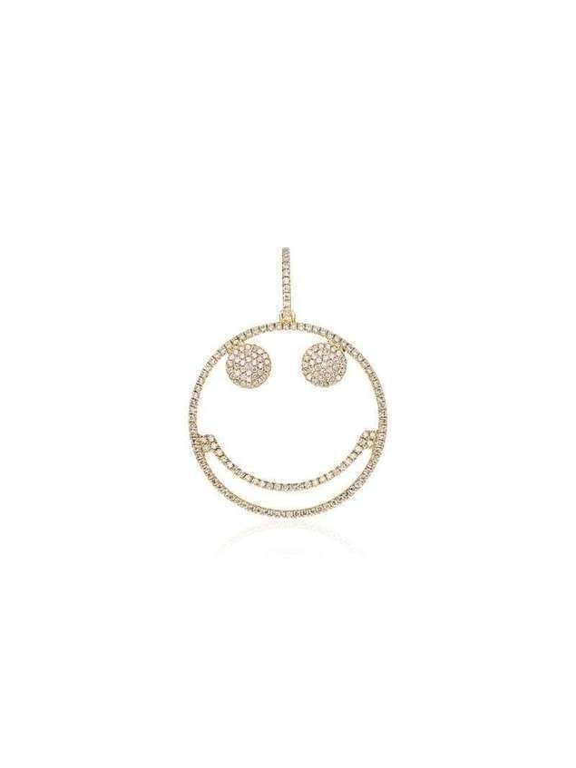 Rosa De La Cruz 18kt yellow gold Smiley diamond pendant