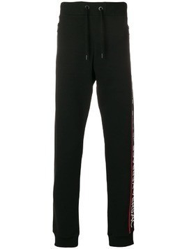 Versace Jeans side panel track pants - Black