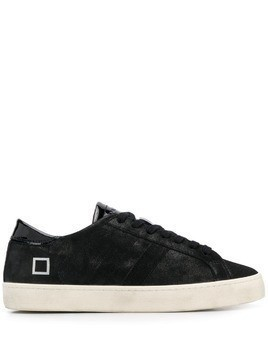 D.A.T.E. Hill Low patent tongue sneakers - Black