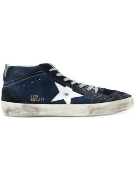 Golden Goose Deluxe Brand - Mid Star sneakers - Herren - Calf Leather/Calf Hair/rubber/Cotton - 43 - Blue