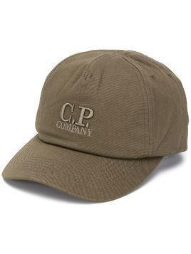 CP Company logo embroidered cap - Green