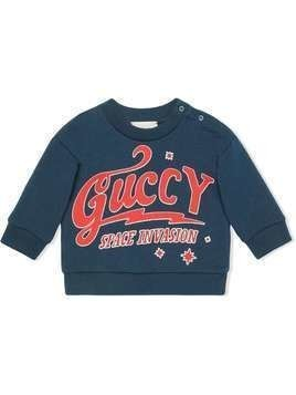 Gucci Kids sweatshirt with Guccy print - Blue