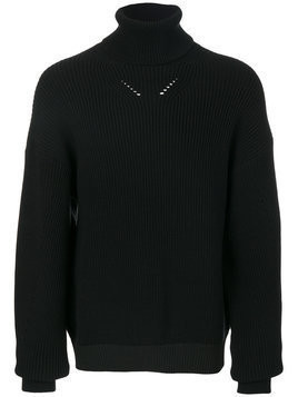 Oamc - knit roll neck jumper - Herren - Cotton/Polyamide/Viscose - XL - Black