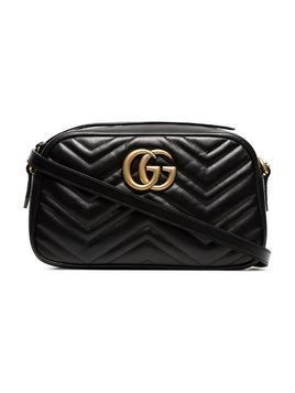 Gucci black Marmont small leather camera bag