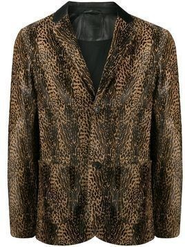 Desa 1972 leopard print coat - Brown