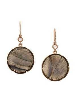 Irene Neuwirth 18kt rose gold rose cut labradorite earrings - Grey
