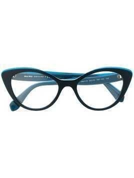 Miu Miu Eyewear cat eye frame glasses - Blue