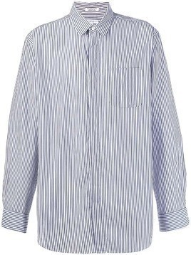 Engineered Garments striped long-sleeve shirt - Blue