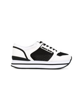 Armani Jeans panelled sneakers - White