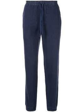 120% Lino loose fit elasticated track pants - Blue