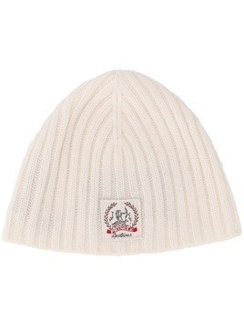 Pringle of Scotland cashmere logo beanie - White