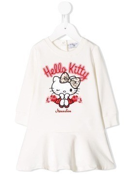 Monnalisa Hello Kitty dress - White