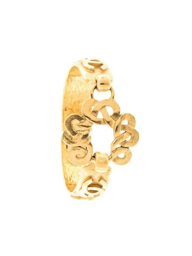 Chanel Pre-Owned 1997 CC bangle - GOLD
