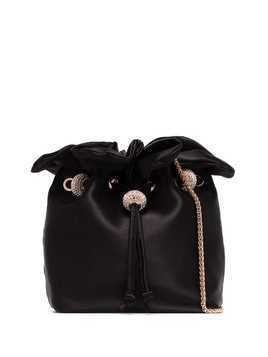 Sophia Webster Gracie satin shoulder bag - Black
