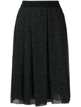 Giambattista Valli high-waisted print skirt - Black