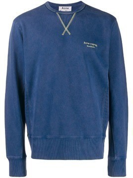 Acne Studios embroidered logo sweatshirt - Blue