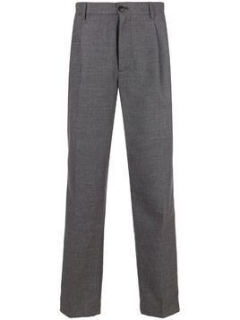 Closed straight tailored trousers - Grey