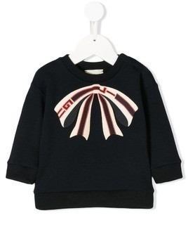 Gucci Kids Baby bow sweatshirt - Blue