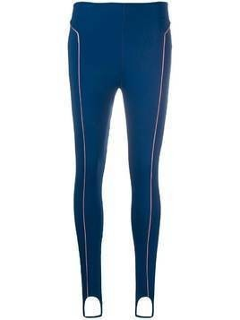 Esteban Cortazar contrast piping stirrup leggings - Blue