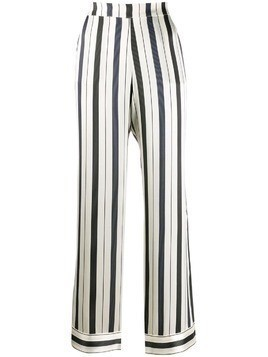 Asceno striped straight-leg trousers - White