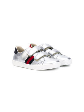 Gucci Kids sneakers with Web detail - Grey