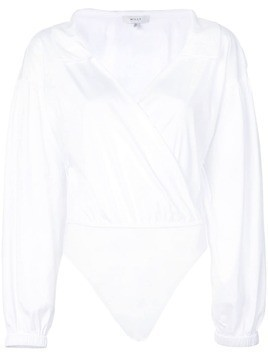 Milly wrap front shirt - White
