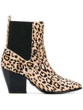 Buffalo Ferry leopard-print ankle boots - NEUTRALS