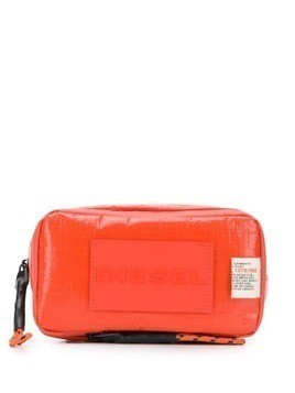 Diesel monochrome logo makeup pouch - Orange