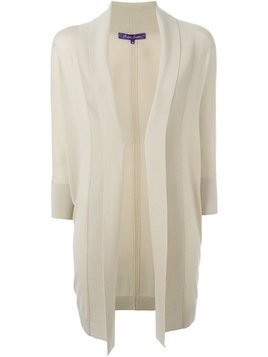 Ralph Lauren fold quarter sleeve draped cardigan coat - Nude & Neutrals
