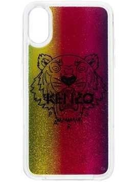 Kenzo Tiger motif glitter-effect iPhone XS case - Red