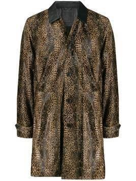 Desa 1972 leopard-print coat - Brown