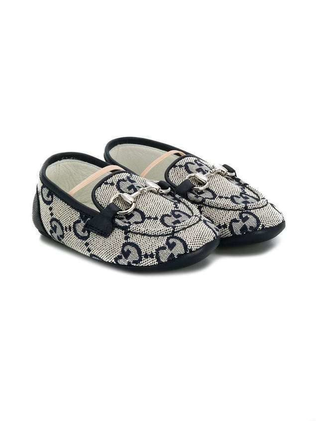 Gucci Kids GG print loafers - Blue