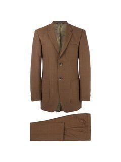 Romeo Gigli Vintage checked suit - Brown