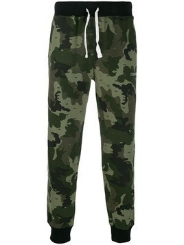 Diesel camouflage print trousers - Green