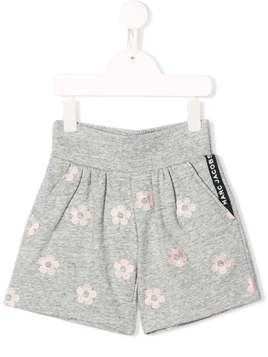 The Marc Jacobs Kids floral print fitted shorts - Grey