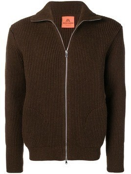 Andersen-Andersen knitted zip-up jacket - Brown