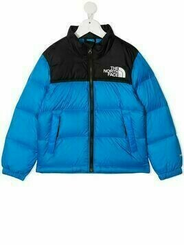 The North Face two-tone padded jacket - Blue