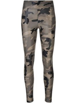 Koral camouflage print leggings - Green