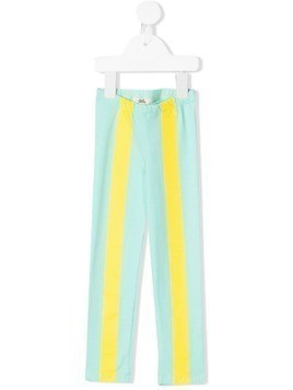 Bandy Button Vantu stripe detail leggings - Blue