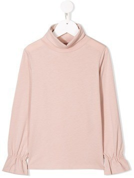 Douuod Kids roll neck top - Pink