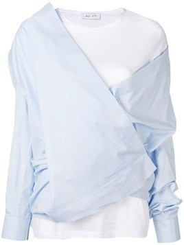 Act N°1 layered wrap blouse - Blue