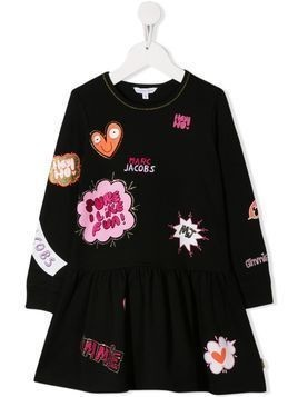 Little Marc Jacobs printed logos dress - Black